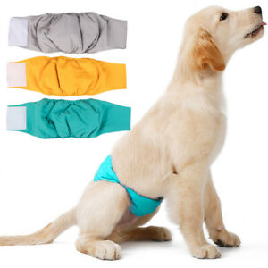 Dog Diaper Reusable Washable Physiological Pants Underwear Belly Band Diaper