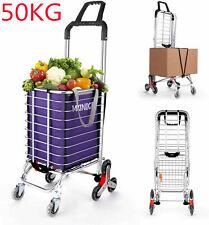 Newest Stair Climbing Cart 8 Wheels Folding Grocery Laundry Shopping Handcart 02
