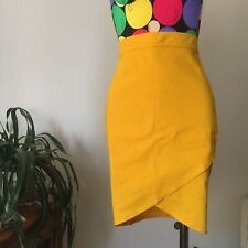 Complice Skirt Vintage Designed By Gianni Versace, Yellow, Size M, Brand New