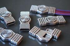 ¡¡¡OFERTA 2x1!!! 3 Cierres Zamak (A.10,5 x 2,4mm) abalorios cuero cierre (CM-09)