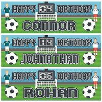 2 Personalised Birthday Banner Football Sports Boy Children kids Party Poster