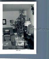 BLACK & WHITE PHOTO J_9005 VIEW OF CHRISTMAS TREE IN CORNER