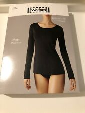 Wolford Pure Pullover Top L/S In Light Lilac M Uk 14-16