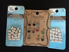 Charm A Long Bead Landing Lot of Silver Tone Beads
