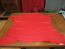 BEAUTIFUL Scarlet GENUINE Leather Skin  VERY soft & supple, could be hand sewn.