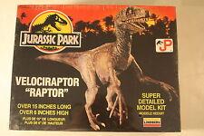 """Jurassic Park, Velociraptor (Raptor) 6"""" high, Lindberg kit 70272, Dinosaur Model"""
