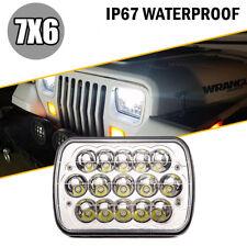 """7X6"""" Chrome LED DOT HID Light Bulbs Clear Sealed Beam Headlamp Headlight 1 Lamp"""