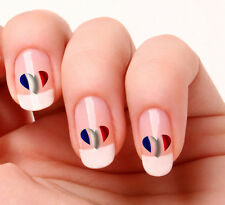 20 Nail Art Decals Transfers Stickers #275 - French Flag Heart
