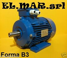 Motore Elettrico 2 velocità 2800/1400 giri HP 0.75/0.5 kW 0.55/0.37 2/4 poli