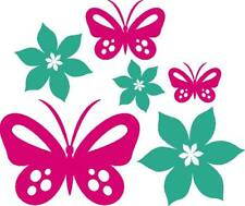 25 Butterflies/Flowers Mixed Car/room wall Vinyl Stickers/Decals