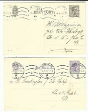 Denmark: 2 postal stationery with internal mail and commercial propaganda. DM06