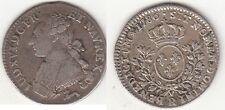 Monnaie Louis XVI 1/5 écu aux branches d'olivier 1786 R