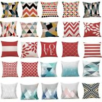 Geometric Printed Cotton Linen Throw Pillow Cases Sofa Cushion Cover Home Decor