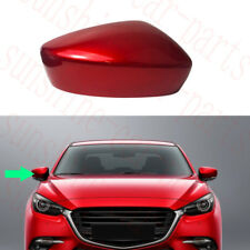 1x For Mazda 3 Axela 2017-18 CAR RED ABS Rearview Mirror Cover Frame Right Side