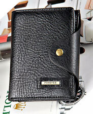 New Black Men's Wallet Leather Guaranteed Quality Leather purse with coin pocket