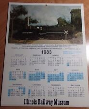 1983 PIN UP CALENDAR & OPERATING SCHEDULES FROM THE ILLINOIS RAILWAY MUSEUM