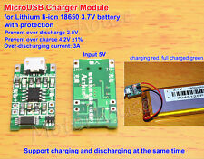 3.7V 4.2v Li-ion Lithium Lipo Battery Charger Module Charging board + Protection