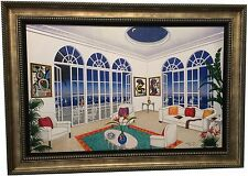 """Fanch Ledan """"Interior with Miro"""" Giclee on Canvas Embellished by Artist"""