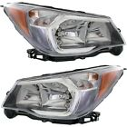 Headlight Set For 2014-2016 Subaru Forester 2.0XT Models Left and Right 2Pc
