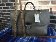 VINTAGE 1990s TRAMONTANO WAXED CANVAS & LEATHER MACBOOK PRO BRIEFCASE BAG R$1845