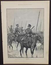 Illustrated London News Single-Page A3#24 Jan. 1888 Russia-Guard From the Ural