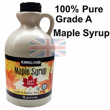 100% PURE Maple Syrup Grade A Amber 1 Litre No Additives Product Of Canada