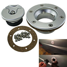 CNC Aluminum T-Handle Fuel Tank Gas Cap Kit 6Hole Silver Universal For Car Truck