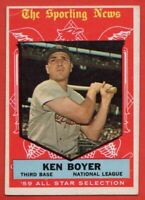 1959 Topps #557 Ken Boyer VG-VGEX+ WRINKLE St. Louis Cardinals FREE SHIPPING