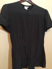 Georgio Armani Silk Sheer Womens Sz EU 42 US 6 Blouse Top Shirt Made In Italy