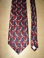 Oscar De La Renta Studio Red Geometric Tie 55L 3-3/4 W Made In The USA T-1