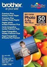 Original  Brother Photo Glossy BP-71GP50 10x15 cm/100x150mm Foto-Papier 50 Blatt