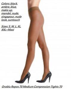 Oroblu Repos 70 support pantyhose, control top, graduated compression