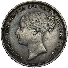 More details for 1887 sixpence (young head) - victoria british silver coin - nice