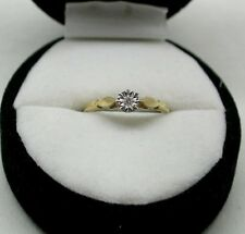 Pretty 9ct Gold Diamond Solitaire Ring