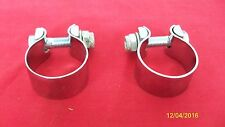 TRIUMPH MOTORCYCLE NEW CROSSOVER TUBE BALANCE PIPE CLAMPS 70-7512 UK MADE