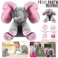 Peek-a-Boo Animated Talking and Singing Plush Elephant Stuffed Doll Toy For Kids