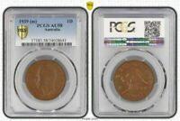 1939(m) AUSTRALIA 1 PENNY PCGS AU58 OLD COIN IN HIGH GRADE