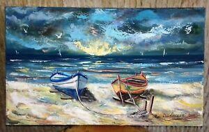 """""""Sul Mare"""" 2006 quadro 30 x 50 olio su tela di Devincenzi Giancarlo"""