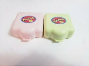 Vintage Pokemon Nintendo Lot Of 2 Mini Playset Polly Pocket Blue Bird 1997