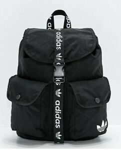adidas Unisex Originals Utility Mini Backpack  Black/White Sports/Travel Gym Bag