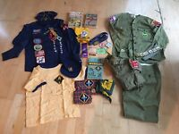 Vintage Boy Scouts of America Lot Shirts Pant Badges Patch Pins Collection 1970s