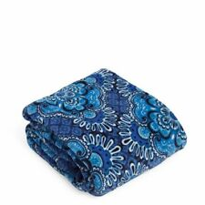"Vera Bradley 50"" x 80"" Micro-Fleece Throw Blanket Blue Tapestry NEW"