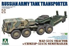 Takom 1/72 MAZ-537G Tractor with CHMZAP-5247G Semi-Trailer # 05004