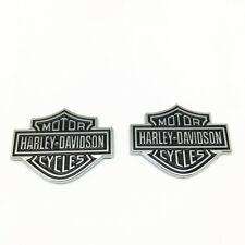2PCS Harley Davidson Chrome Motorcycle Body Tank Emblems Badges Logo Sticker OEM