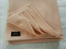 Vintage retro Witney pale peach wool blend sm double blanket vw camping 60s 70s