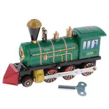 Wind Up Clockwork Train Locomotive Modèle Tin Toy Collectible Gift Home