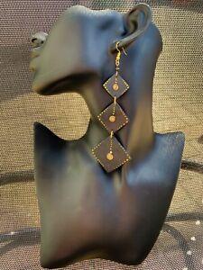 Earrings Dangle Drop Metal Beaded African MAASAI Masai Ethnic Kenya handmade
