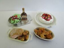 1:12 scale food - serving dinner in the dollhouse kitchen