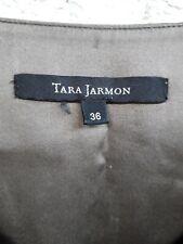 TARA JARMON belle robe de soie marron doublée Taille 36