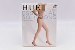 Hue Essential Solutions Clear Control Sheers Pantyhose, Natual, Size 3